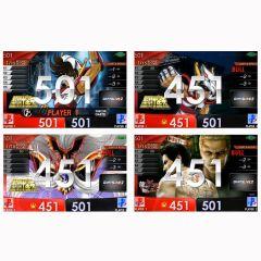 """""""限定"""" 圣斗士星矢 & 人中之龙极2 动画桌布DARTSLIVE2卡片"""