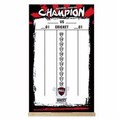 """""""One80"""" Dry Wipe Whiteboard Scoreboard (50cmx30cm) Champion 记分板"""