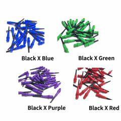 """NATURAL 9"" L-style Premium Lippoint Gradation Black 30pieces [2BA] 镖针"