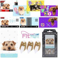 """DARTSLIVE"" Fit Flight Special Pack CARD 镖翼 + 卡片 + 主题 <Dog(狗)>"