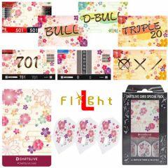 """DARTSLIVE"" L-Flight PRO Special Pack CARD 镖翼 + 卡片 + 主题<Sakura(櫻)>"