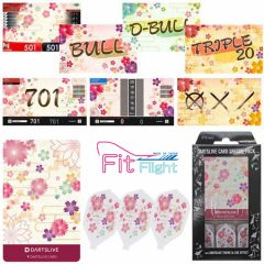 """DARTSLIVE"" Fit Flight Special Pack CARD 镖翼 + 卡片 + 主题 <Sakura(櫻)>"