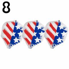 """8 FLIGHT"" 美国国旗 USA FLAG clear [Shape]"